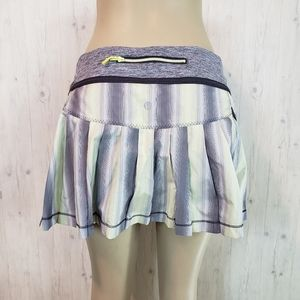 Lululemon Run Reflection Skirt Size 10 Citron Grey